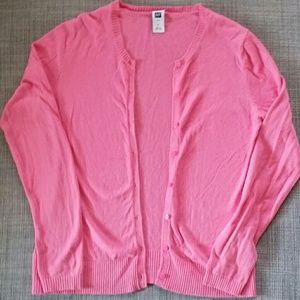 Pink Gap cardigan